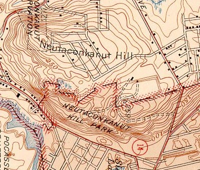 Topographic Map Rhode Island.Snake Hill