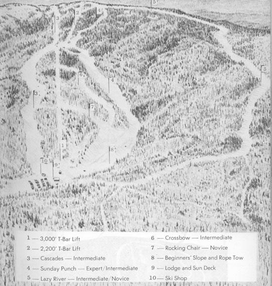 Historic Ski Postcards Pictures And Trail Maps - Vintage ski maps