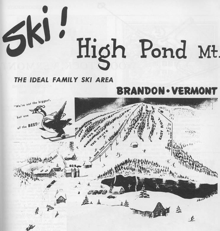 Skiing New England Map.High Pond Ski Area